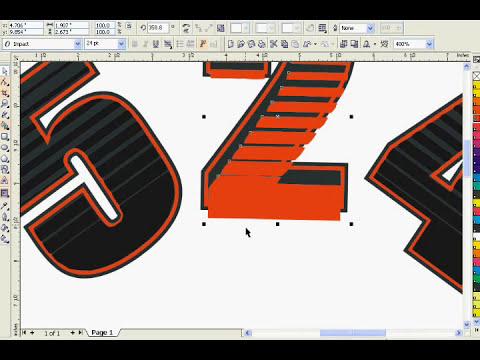 CorelDRAW X3 Text Effect (Linear Halftone)