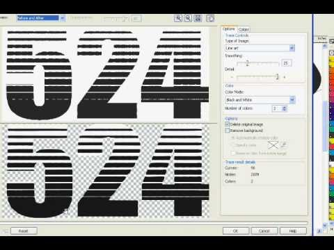 CorelDRAW X3 Text Effect (Linear Halftone)