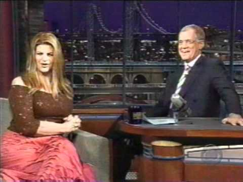 Kirstie Alley on Letterman