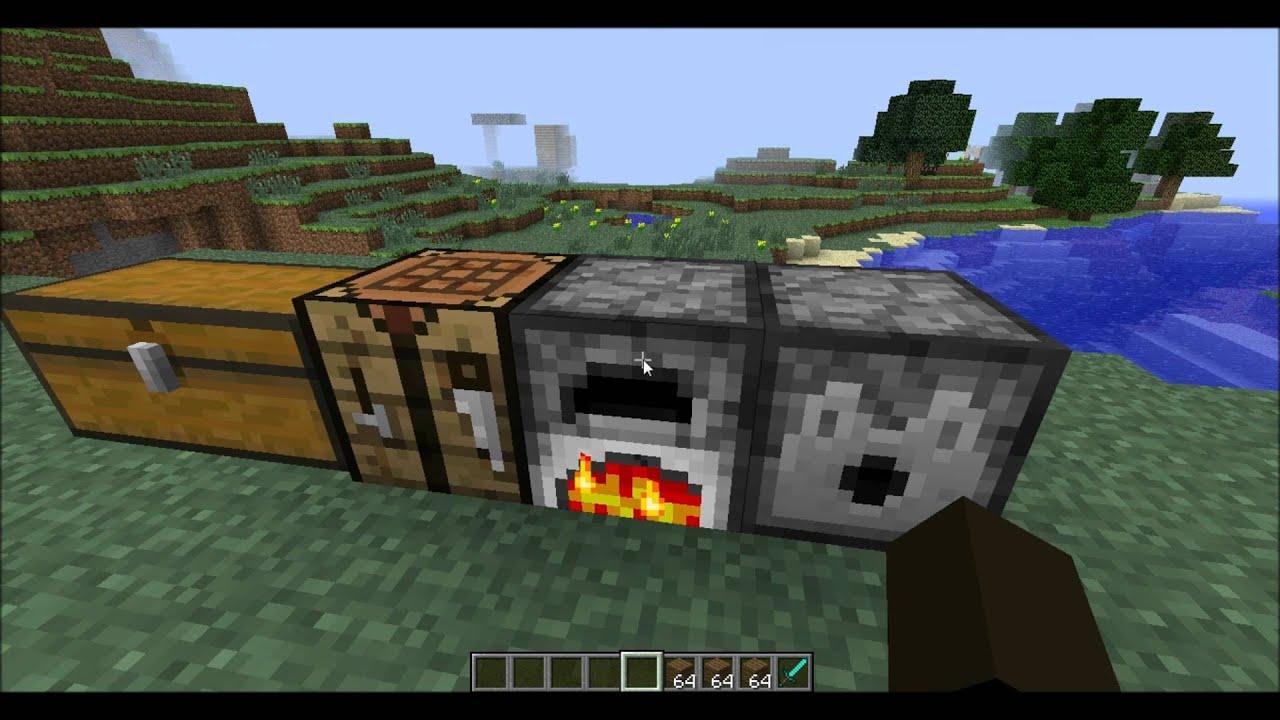 Minecraft tutorial hoe maak je een workbench chest furnace en dispenser youtube - Hoe sluit je een pergola ...