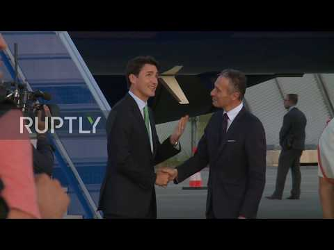France Canadian PM Justin Trudeau arrives in Biarritz ahead of G7 summit