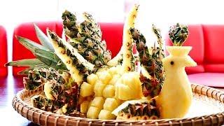 Pineapple Garnish | Fun Food For Kids | Pineapple Food Art | Party Garnishing
