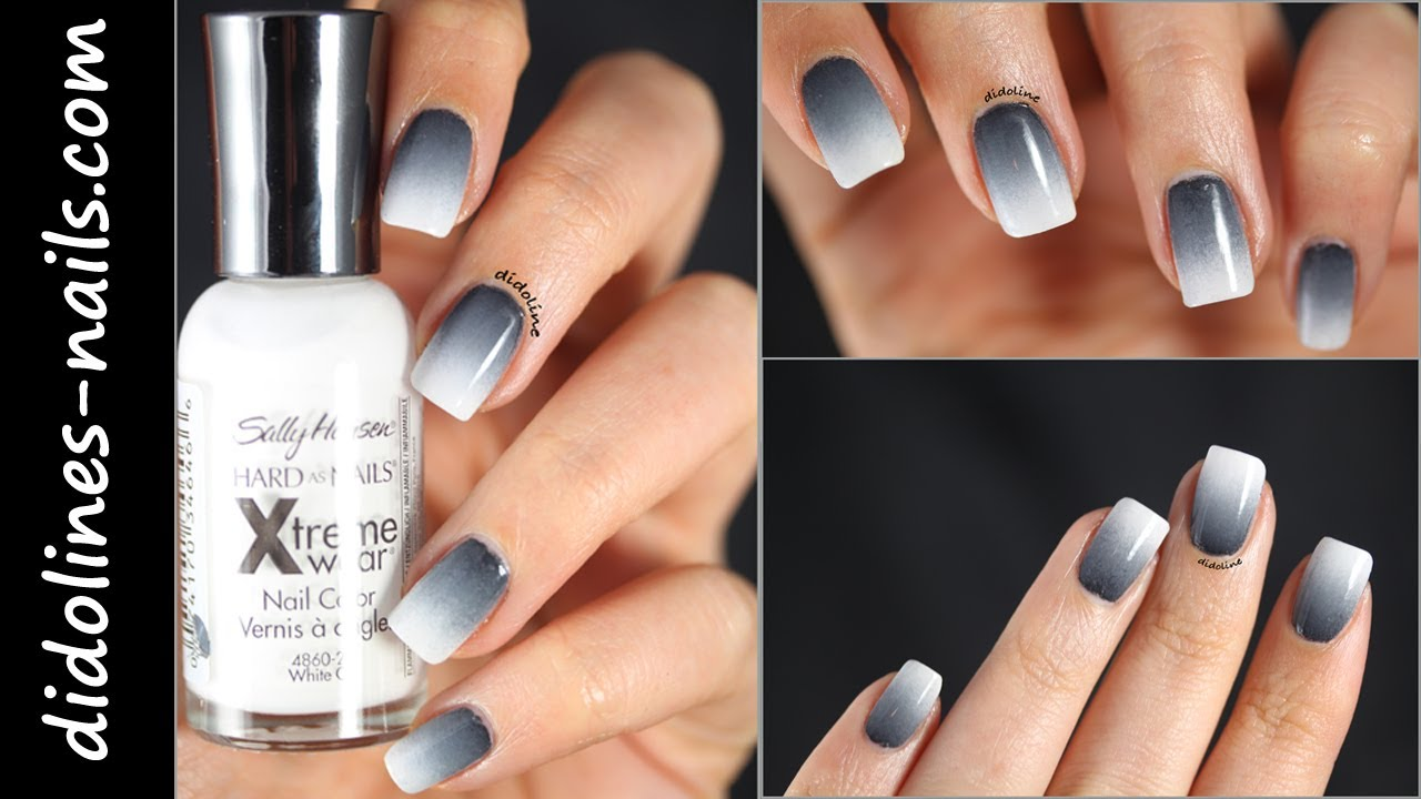 Black And White Gradient Nails Black And White Gradient With