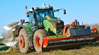 Fendt 936 Vario Kverneland 7 schaar LO 100 on-land ploeg ploughing & Topping in one pass [HD]