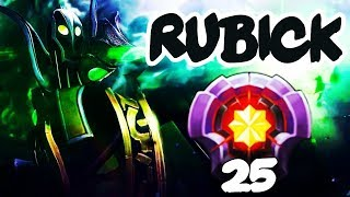 FIRST LEVEL 25 RUBICK - Dota 2 EPIC Gameplay Compilation