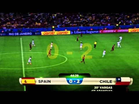FIFA World Cup 2014 - SPAIN 0-2 CHILE