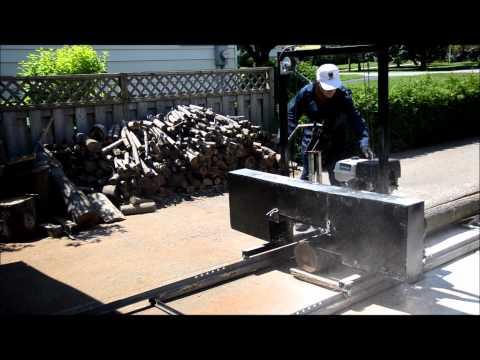 Homemade Bandsaw Sawmill