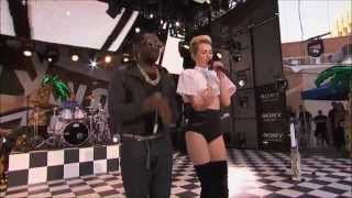 Miley Cyrus & Will I Am - Fall Down (Live on Jimmy Kimmel 2013)