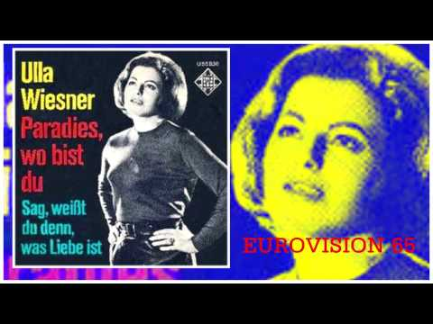 1965 ULLA WIESNER Eurovision version studio PARADIES WO BIST DU
