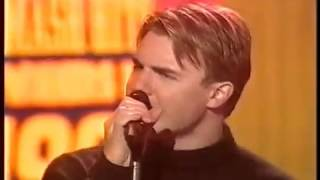 "Gary Barlow on Smash Hits Poll Winners Party 1997 - ""Love Wont Wait"""
