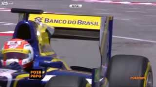 Crazy pigeon - Amazing backflip in Monaco 2013 Formula 1 Race