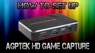 How to set up the AGPtek HD Game Capture! (English)