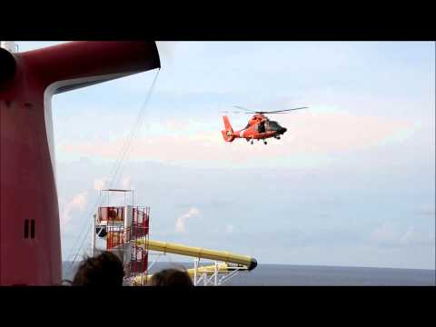 Dramatic Coast Guard Rescue from Carnival Sensation Ship