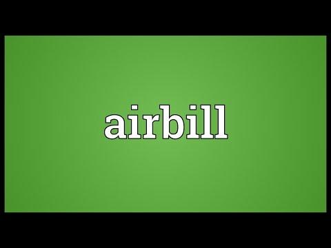 Header of airbill