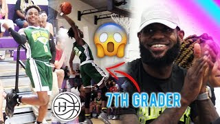 LEBRON IMPRESSED By 7th GRADER DUNKING!! Bronny James TOYING With DEFENDERS!
