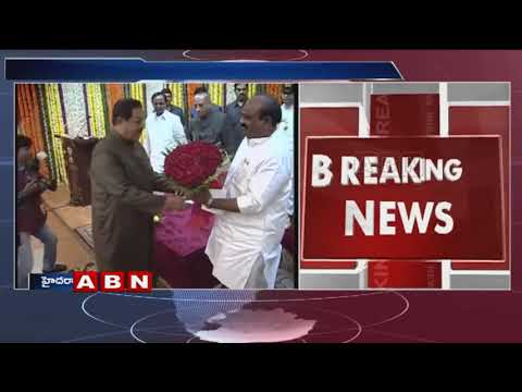 Mumtaz Ahmed Khan take oath as Telangana Pro-Tem Speaker in Presence on Governor and KCR |ABN Telugu