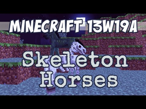 Snapshot 13w19a - Skeleton & Zombie Horses and Chicken Chandelier