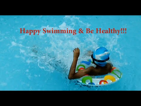Fun at swimming pool - Is good for health.