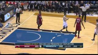 Norris Cole and Hassan Whiteside embarrassing inbounds turnover: Heat at Timberwolves