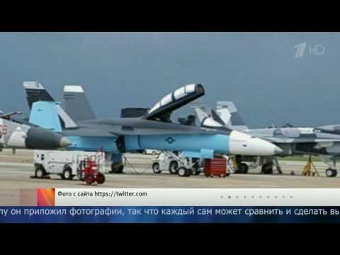 Американские военные раскрасили самолёты Ф‐18, сделав их похожими на российские Су‐34.
