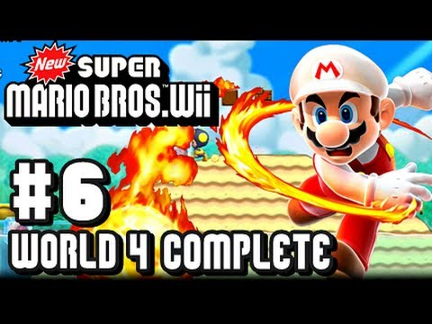 New Super Mario Bros Wii - Part 6 World 4 Complete