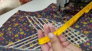 Lace और  Gota Patti से बनाए Easy and Stylish Neck Design/ Neck Design for Printed Kurti