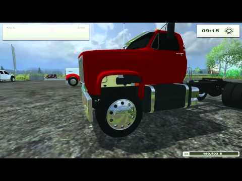 Farming Simulator 2013 Mods- Kenworth W900. F450. GMC Topick Semi
