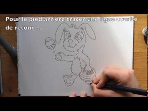 Comment dessiner le lapin de p ques facile tape par tape tutoriel youtube - Dessin de lapin facile ...