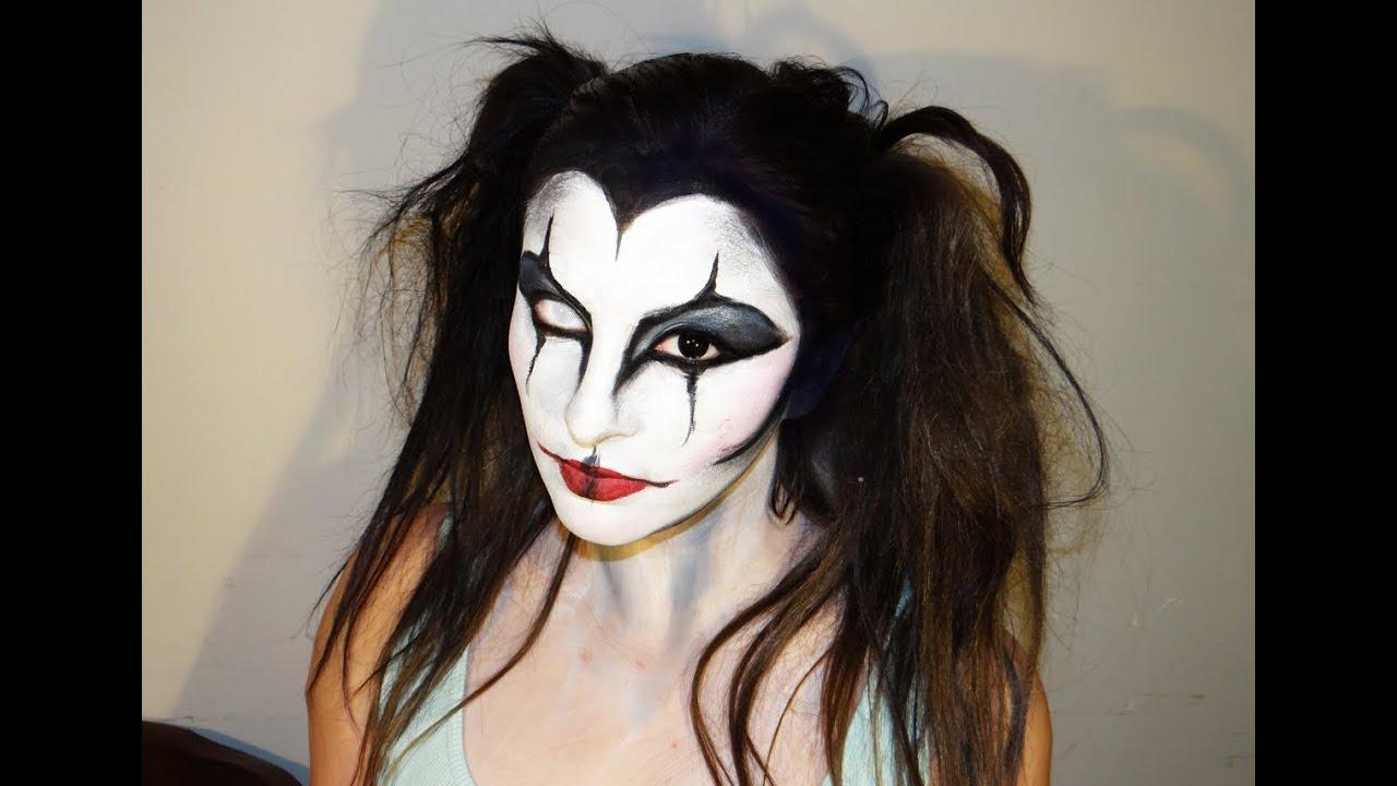 girl jester makeup
