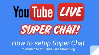 How to enable Super Chat in YouTube