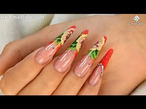 Nail decoration with One Move Flowers