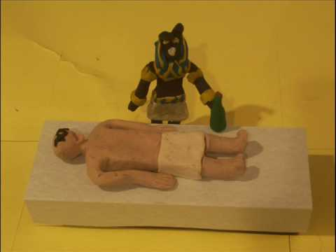 Claymation of the mummification process Video