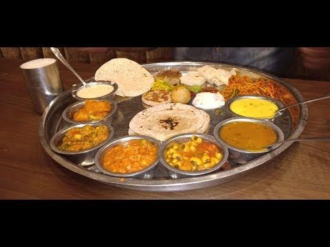 અમદાવાદ ઠાકર લોજ કાઠીયાવાડી થાળી Best Gujarati Thali in Ahmedabad  #Street #Food #in#kamleshmodi