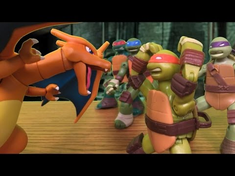 TMNT 2016 Stop Motion Pokemon GO Special!