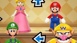 Mario Party 9 Step It Up - Peach vs Mario vs Luigi vs Wario