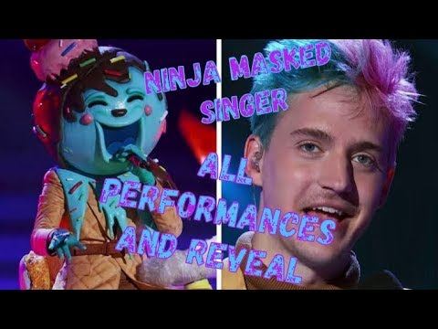 "Tyler ""Ninja"" Blevins on ""The Masked Singer"" (Old town road Whip it and face reveal)"