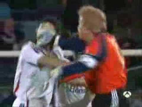 Bayern VS getafi 3#3, the joy of oliver kahn. Oliver Kahn Fights with Van Bommel.