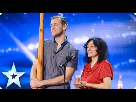 Opera singer accompanied by a didgeridoo | Britain's Got Talent 2014 klip izle