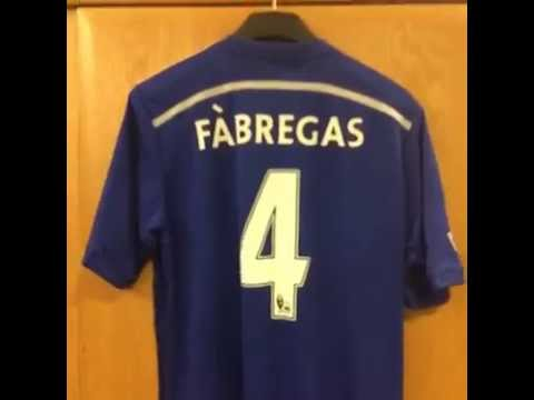 Cesc Fabregas' number 4 Chelsea jersey | First look
