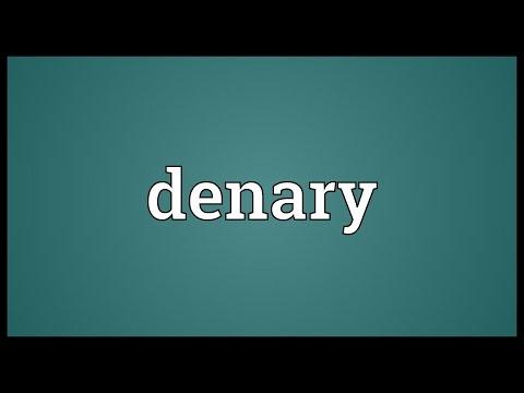 Header of denary