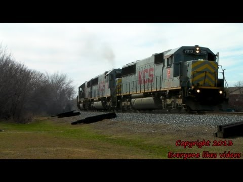 KCS sd50 units thru Wylie, Tx. 02/10/2013 ©