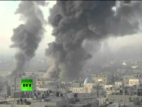 Video  String of blasts in Gaza as Israel intensifies airstrikes