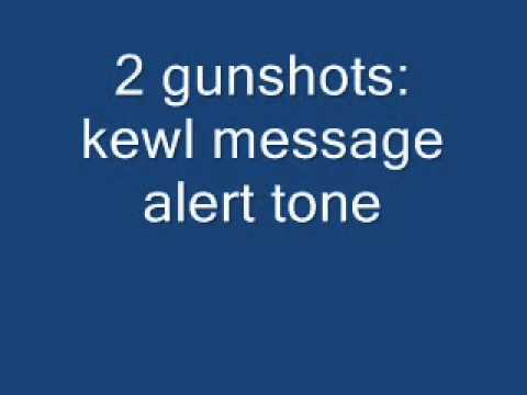 Gunshot Sound Effect For Message Alert Tone video