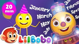 Learn Month Names for Kids - Nursery Rhymes | January, February, March | Little Bobo Songs