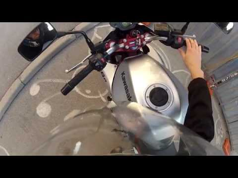 Kawasaki ER-6n 2007 Naked (ABS) - Startup and Driving - HD GoPro Hero