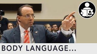 Body Language: Rod Rosenstein & Christopher Wray Hearing Revelations