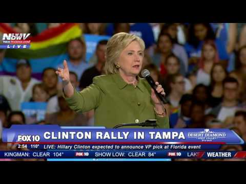 FULL VIDEO: Hillary Clinton's First Speech Since GOP Convention - Tampa Rally