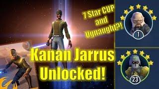 Star Wars Galaxy of Heroes: Kanan Jarrus Unlocked! 7 Star Ugnaught and CUP Unveiling?!