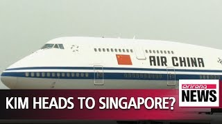 Singapore-bound plane possibly carrying Kim Jong-un