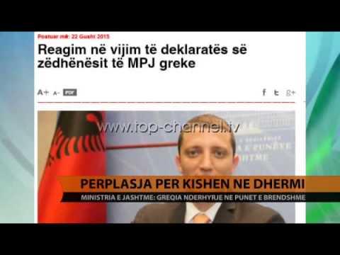 Përplasja për kishën në Dhërmi - Top Channel Albania - News - Lajme